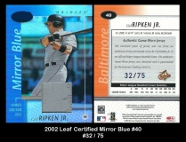 2002 Leaf Certified Mirror Blue #40