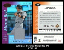 2002 Leaf Certified Mirror Red #40