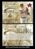 2002 Leaf Rookies and Stars #254