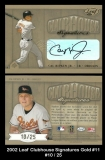 2002 Leaf Clubhouse Signatures Gold #11