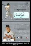 2002 Leaf Clubhouse Signatures Silver #9