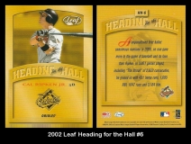 2002 Leaf Heading for the Hall #6
