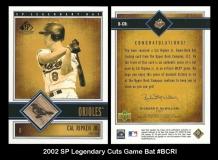 2002 SP Legendary Cuts Game Bat #BCRI