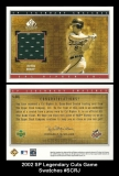 2002 SP Legendary Cuts Game Swatches #SCRJ