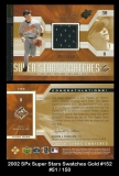2002 SPx Super Star Swatches Gold #152