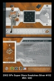 2002 SPx Super Stars Swatches Silver #152