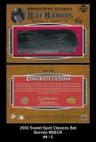 2002 Sweet Spot Classics Bat Barrels #BBCR