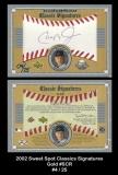 2002 Sweet Spot Classics Signatures Gold #SCR