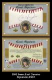 2002 Sweet Spot Classics Signatures #SCR