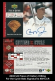 2002 UD Piece of History Hitting For the Cycle Bats Signatures #SHCCR