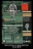 2002 UD Piece of History MVP Club Jersey #MCR