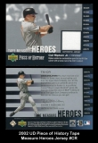 2002 UD Piece of History Tape Measure Heroes Jersey #CR