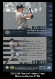 2002 UD Piece of History Tape Measure Heroes #TM2