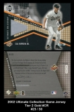 2002 Ultimate Collection Game Jersey Tier 2 Gold #CR