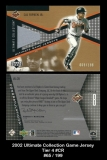 2002 Ultimate Collection Game Jersey Tier 4 #CR