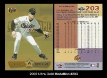 2002 Ultra Gold Medallion #203