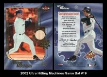 2002 Ultra Hitting Machines Game Bat #19