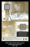 2002 Upper Deck Game Jersey Autograph Gold #JCR