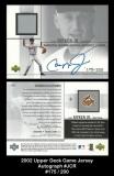 2002 Upper Deck Game Jersey Autograph #JCR