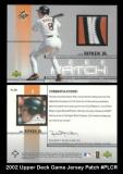 2002 Upper Deck Game Jersey Patch #PLCR