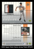 2002 Upper Deck Game Jersey Patch #PSCR