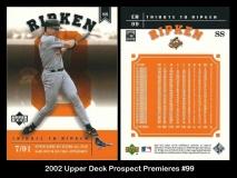 2002 Upper Deck Prospect Premieres #99