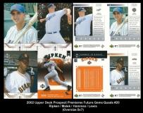 2002 Upper Deck Prospect Premiers Future Gems Quads #20