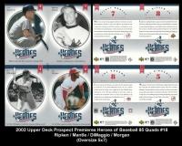 2002 Upper Deck Prospect Premiers Heroes of Baseball 85 Quads #18