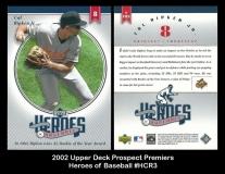 2002 Upper Deck Prospect Premiers Heroes of Baseball #HCR3