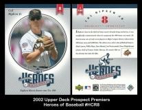 2002 Upper Deck Prospect Premiers Heroes of Baseball #HCR8