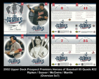 2002-Upper-Deck-Prospects-Premieres-Heroes-of-Baseball-85-Quads-22