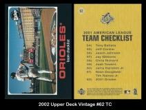 2002 Upper Deck Vintage #62 TC