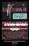 2003 Absolute Memorabilia Signing Bonus #2