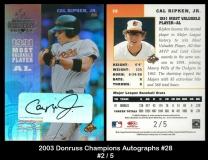 2003 Donruss Champions Autographs #28
