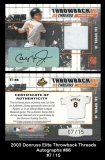 2003 Donruss Elite Throwback Threads Autographs #86
