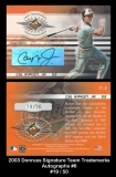 2003 Donruss Signature Team Trademarks Autographs #6