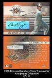 2003 Donruss Signature Team Trademarks Autographs Decade #6