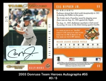 2003 Donruss Team Heroes Autographs #55
