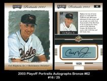 2003 Playoff Portraits Autographs Bronze #62