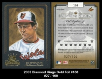 2003 Diamond Kings Gold Foil #168