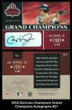 2003 Donruss Champions Grand Champions Autographs #21