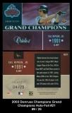 2003 Donruss Champions Grand Champions Holo-Foil #21