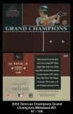 2003 Donruss Champions Grand Champions Metalized #21