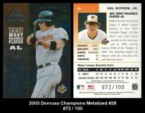 2003 Donruss Champions Metalized #28