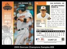 2003 Donruss Champions Samples #28