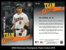 2003 Donruss Champions Team Colors #15