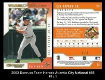 2003 Donruss Team Heroes Atlantic City National #55