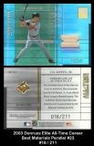 2003 Donruss Elite All-Time Career Best Materials Parallel #23