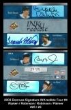 2003 Donruss Signature INKredible Four #4