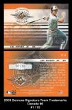 2003 Donruss Signature Team Trademarks Decade #6